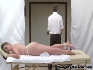 Allie Haze on massage table wants cock free