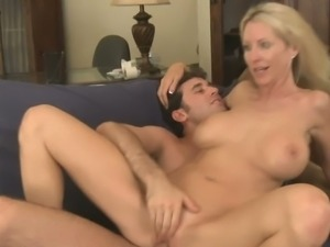 Tattooed blonde milf Emma Starr fucks very hard
