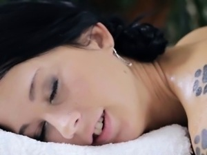 Andrea Bev Gets Her Tits And Pussy Massaged