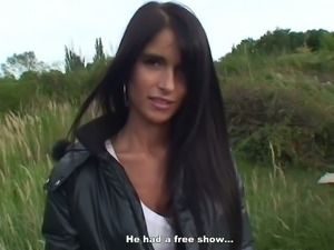 Hot nessa devil analized outdoors