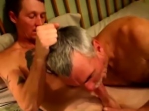 Dirty hairy biker is getting cock sucked