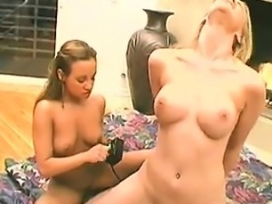 Sexy Young Lesbians Enjoying A Sybian
