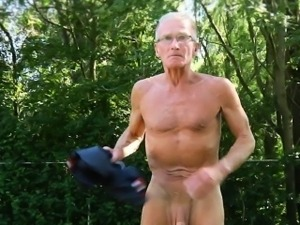 Appetizing old young fuck picnic and cum devouring