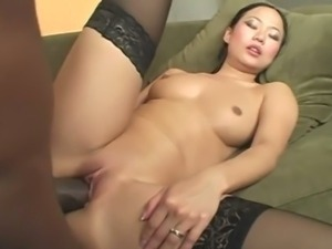 Asian Chick Gets Ripped Up By Black Dick