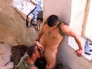 Horny and Hot Muscle Military Hardcore Anal   Fuck