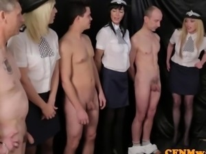 Femdom female police agents humiliate