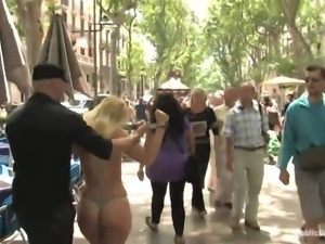 naked slut is disgraced on the street
