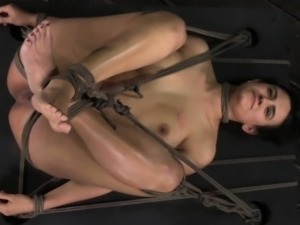 Tied up bdsm sub Penny Barber booty spanked