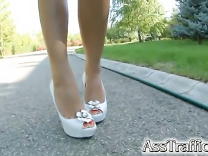 Extremely sexy minx satisfies her anal desires