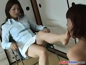 Asian Femdom And A Cute Slave Of Hers
