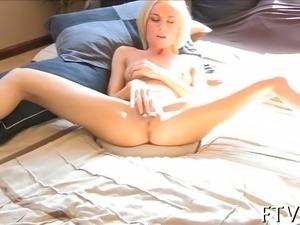 Cutie is masturbating