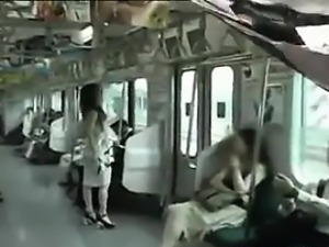 Japanese Girl Naked In Public On A Subway