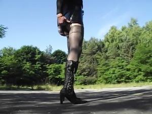 Botts e Stockings Black in Outdoor