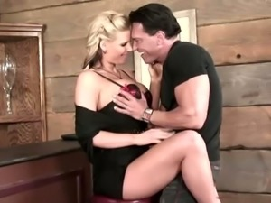 Guy plays with Phoenix Marie's huge hooters