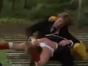 Beautiful Blonde Teen Having Sex Outside