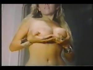 Vintage blonde for cum
