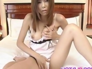 Miki sucks cock and balls before is fucked