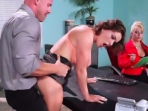 Johnny sins invites a super hot girl with a busty girl for an job interview,...