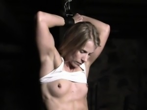Claire is bound in the dungeon