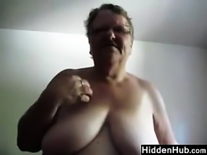 Big Old Woman Masturbating With A Dildo