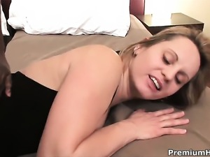 Magda keeps her legs apart to be drilled over and over again in interracial...