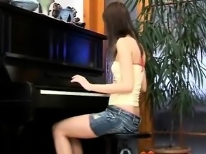 Masturbating at the piano