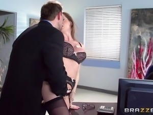 veronica sucks dick in an office