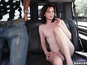 Small tits amateur gives up her ass