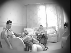 Young Threesome Secret Cam