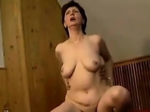 Horny Granny And Her Younger Lover Fuck