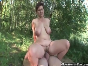 Mom loves outdoor sex free