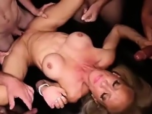 She is from MILF-MEET.COM - Gangbang Creampie  Fitness MOM w