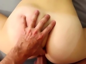 Lily Rader is a petite blonde with a round ass and shes going to get a big...