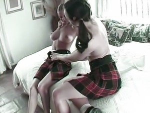 Two horny girls want a big one