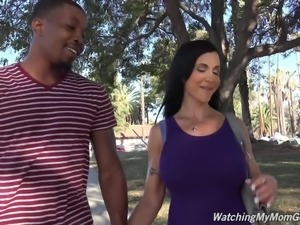 Taboo with perfect busty MOM Jewels Jade fucked by black