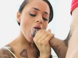 Holly Hendrix got on her knees and stroked