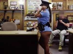 Audrey bitoni gets a big dick Fucking Ms Police Officer
