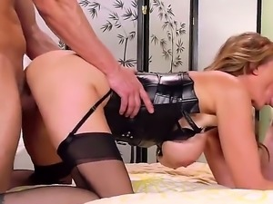 Julia Ann is  is interrupted by a cop while fucking her boyfriend. She then...