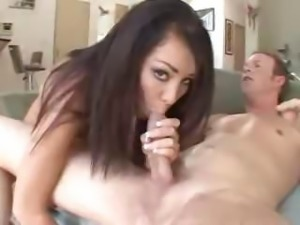 Brunette Paulina James gets all of her fuck holes filled with cock