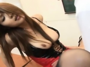 Ai Kurosawa fucked at school gets cum on ass