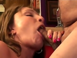 Horny as hell mature woman Luna Azul with nice tits and juicy ass shows her...