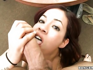 Isis Taylor is handling a cock