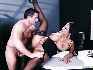 John Strong has a great time fucking Latina Kiara Mia with bubbly ass