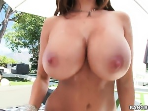 Brunette Ava Addams with massive breasts gets the asshole fuck of her dreams