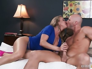 Brandi Love with huge breasts knows no limits when it comes to fucking with...
