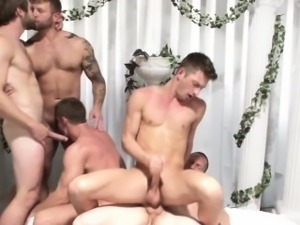 Greek hunk gods analfucking in group
