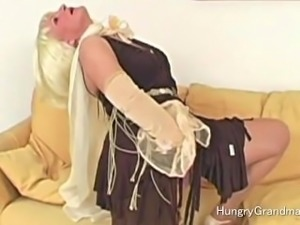 Darla strips and shows her body