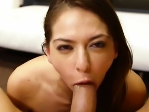 Perfect blowjob and deepthroat of nasty chick