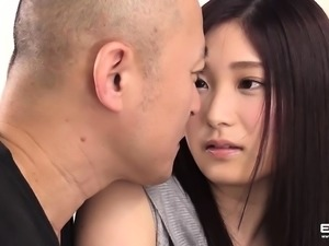 Stunning Japanese Haruka gets her big boobs cum showered