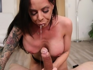Brandy's crazy ass is one in a million! See this hot brunette milf exposing...